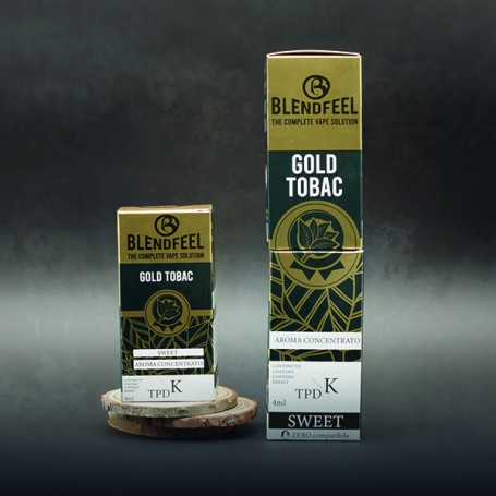 Blendfeel Gold Tobac - K-TPD 4 mL K-TPD 10 mL  concentrated flavor 4 mL